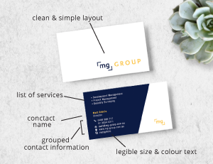 Business card design and printing gold coast basic principles for effective business cards reheart Choice Image