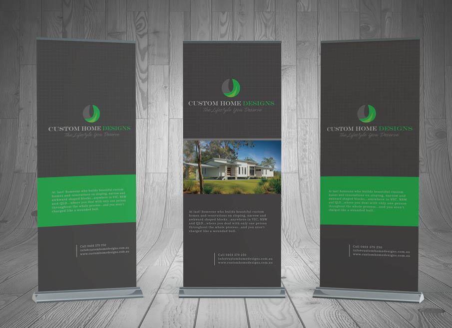 Banner Stand Designs : Design and printing pullup banners gold coast tweed heads