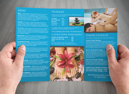 Brochure Design and Printing Gold Coast and Tweed Heads – Massage Brochure