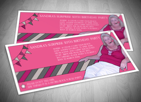 Gold Coast Graphic Design - Birthday invitation gold coast