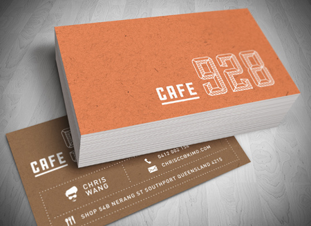 Cafe 928 southport logo design cafe logo design gold coast cafe 928 southport logo and business card design reheart Image collections