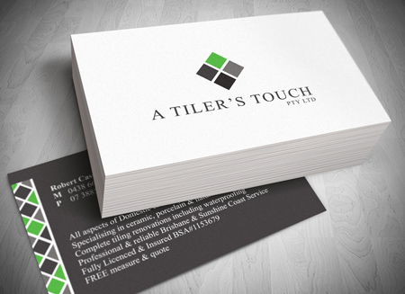 Gold coast logo website and letterhead and stationary design for Tiler business card