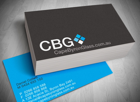 Byron Glass logo design & business card design printing