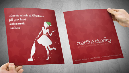 Coastline cleaning gold coast and tweed heads gold coast logo and business card design reheart Images