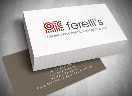 Ferellis cafe gold coast logo and business card design colourmoves
