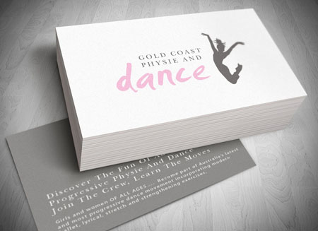 Dance business cards image collections business card template gold coast logo website and letterhead and stationary design gold coast logo and business card design colourmoves Gallery
