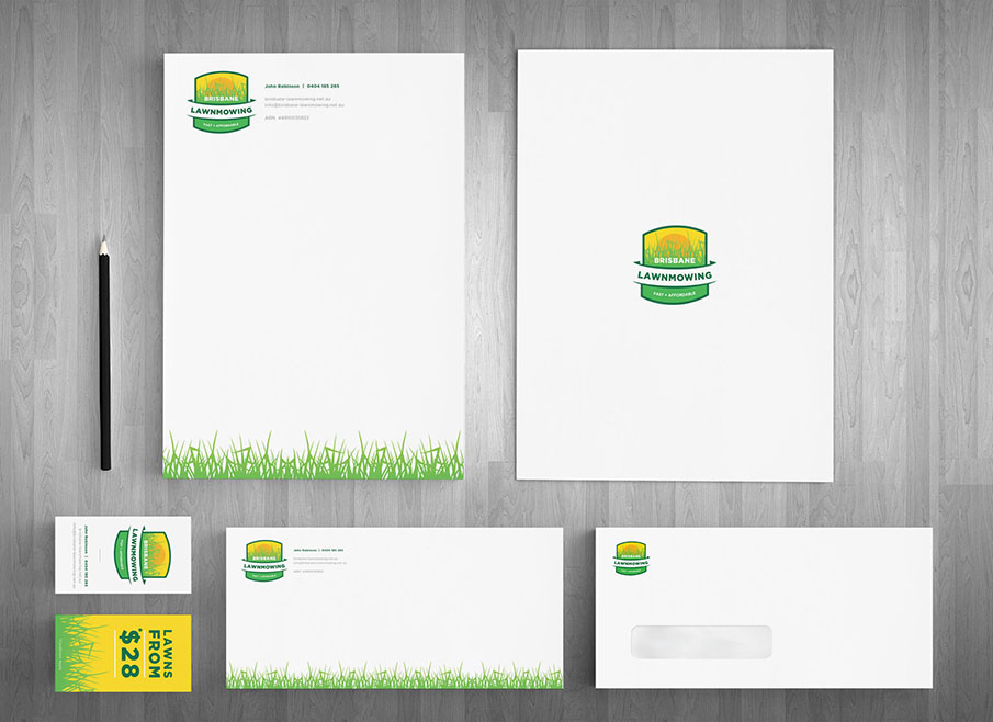 Brisbane lawn mowing brisbane logo design lawnmowing business card design brisbane colourmoves