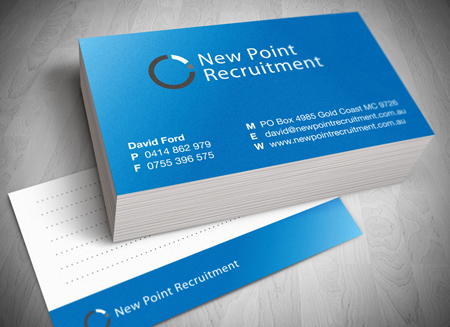 New point gold coast recruitment gold coast logo and business card design reheart Gallery