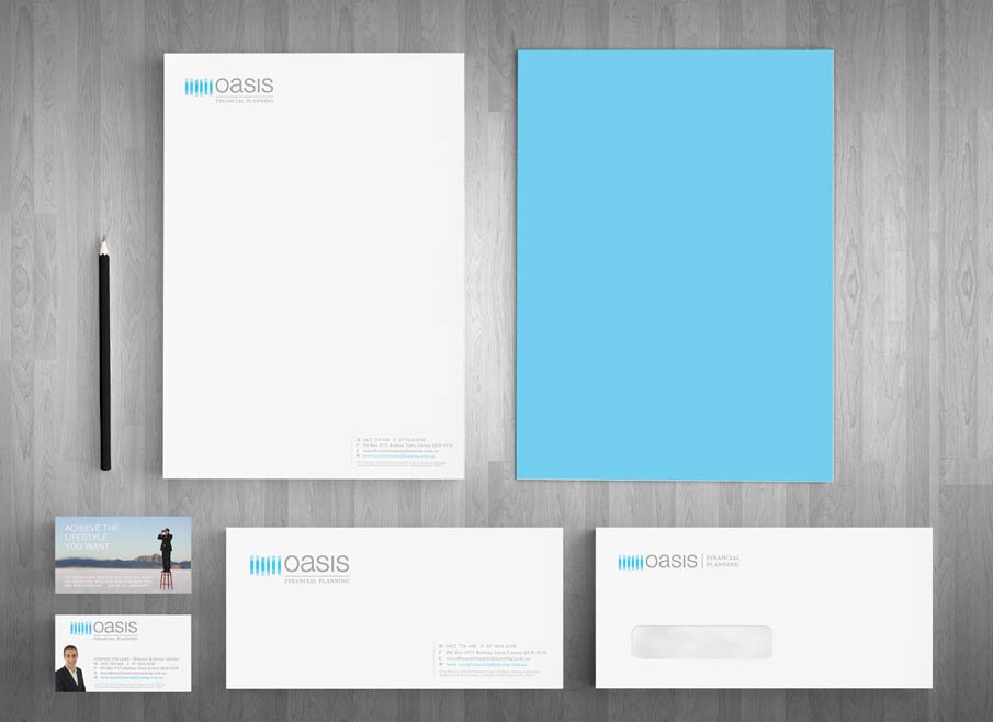Robina Logo Design Oasis Financial Planning Website And Letterhead And Stationary Design