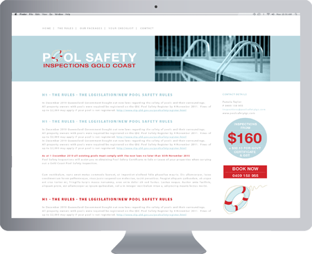 Pool safety inspections gold coast logo design for Pool design website