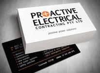 Logo design gold coast business cards design printing for Electrician business card ideas