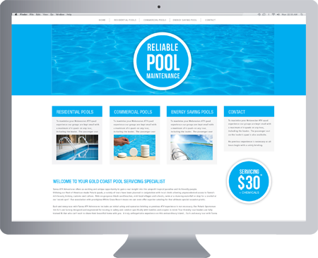 Elanora logo design reliable pool maintenance gold for Pool design website