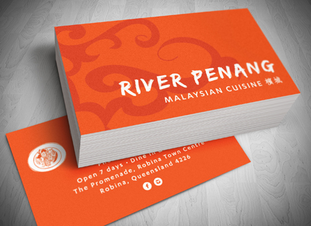 Robina logo design river penang malasysian cuisine gold coast robina logo design river penang malasysian cuisine gold coast logo and business card design reheart Choice Image