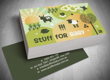 gold coast logo design stuff for baby business card